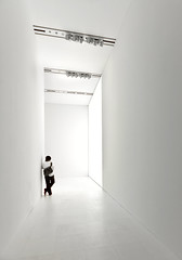 The Silent Man (yushimoto_02 [christian]) Tags: white man tower art japan museum tokyo silent minimal clear silence single  roppongi  minimalism roppongihills mori moritower tokio moriartmuseum tky