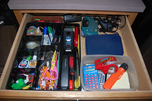 kitchen drawer re-org