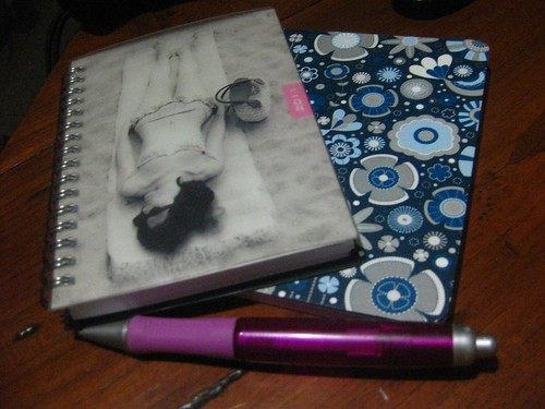Handbag diary and notebook