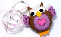 Little Felt Owl Measuring Tape