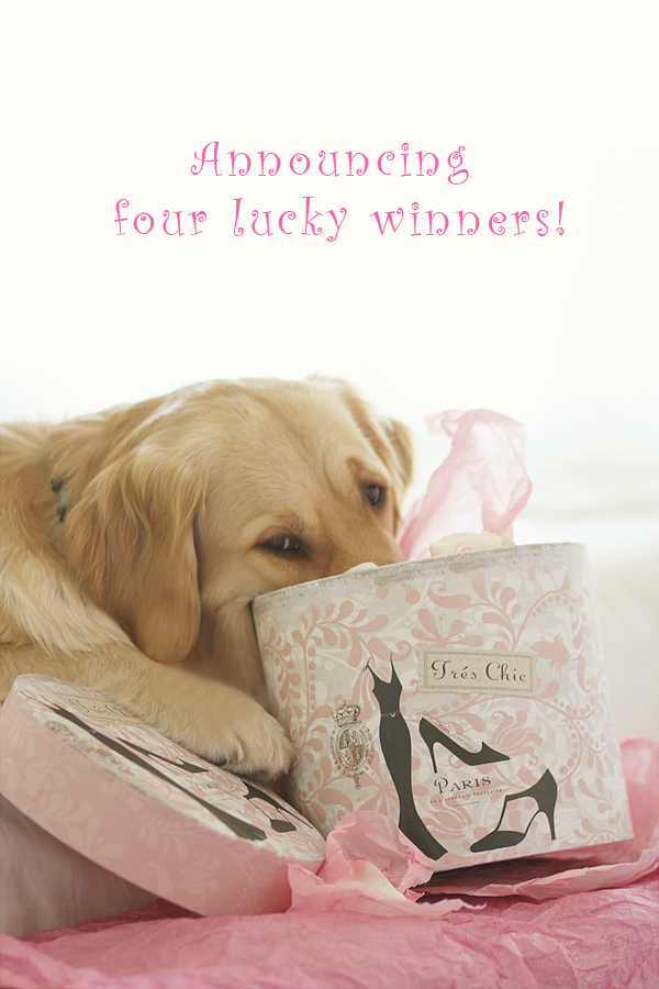 {1/11/11 ~ 11/365 2011} Announcing the 4 Lucky Winners...