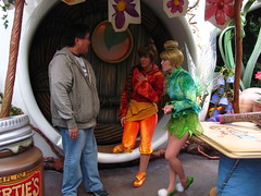 Meeting Tinker Bell and Fawn at Pixie Hollow (Loren Javier) Tags: california me disneyland tinkerbell disney fawn anaheim fantasyland disneylandresort disneycharacters disneyfairies disneylandcastmembers lorenjavier pixiehollow