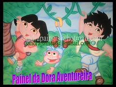Painel da Dora aventureira (Fada decoraes) Tags: cenrio painel tela decoraodefesta doraaventureirapainelparafestateladecoraodefestafestainfantilpersonagensemmdfcenarioemmdff