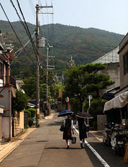 Trundle (Aaron Webb) Tags: japan walking kyoto calendar wires   hillside schoolgirl kyotojapan japanday7