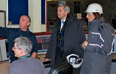 Chris Huhne at Longannet Power Station