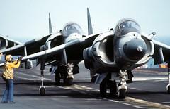 [フリー画像] 乗り物, 航空機, 攻撃機, AV-8B ハリアー II, アメリカ海兵隊, 201101212300