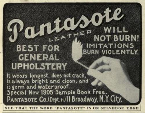 1905 Vintage Advert - Pantasote Imitation Leather by CharmaineZoe