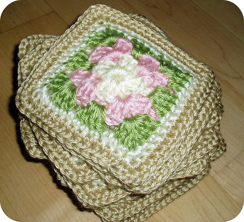 Granny Square stack for poncho