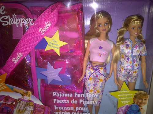 Pajama Fun Tote Barbie & Skipper
