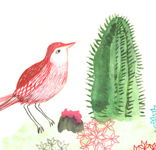 Cactus Bird - Detail