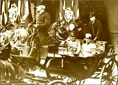 King Amanullah of Afghanistan with Victor Emmanuel c 1920s (ronramstew) Tags: 1920s italy afghanistan history vintage king italia carriage visit historic afghan amir khan victoremmanuel amanullah