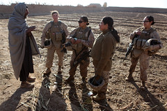 A team of women Marines in Afghanistan