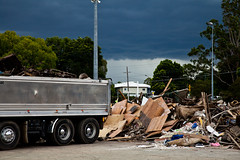 Storm Incoming (obLiterated) Tags: truck junk events cleanup places brisbane approachingstorm flooddebris temporarydump 20102011floods