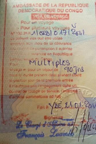 DRC visa