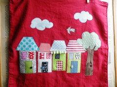 New houses ... (monaw2008) Tags: house tree handmade sewing pillow fabric cover applique monaw2008 bukiby mmonaw