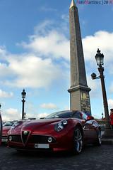 Alfa Romeo 8C Competizione - 100ans Alpha Paris (10-2010) (Automartinez) Tags: paris les canon de eos la place cent concorde alfa romeo salon ans rues alban dans centenaire 8c 500d joachin competizione automedon dalfa automartinez