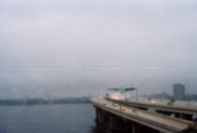 rain and fog from hospital