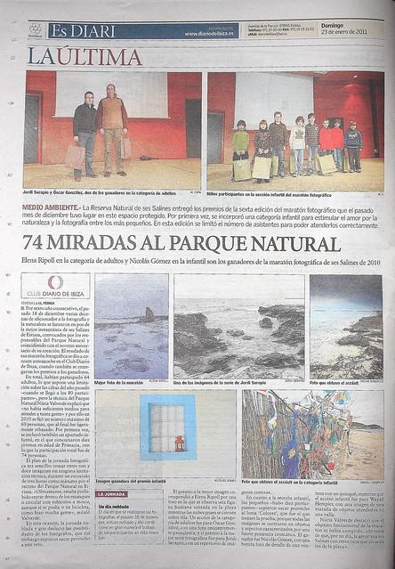 """Contraportada """"Diario de Ibiza"""""""