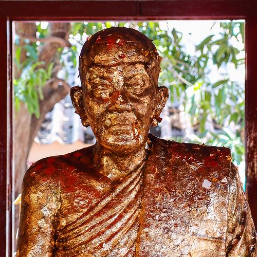 Thailand, Hua Hin, Temple figure