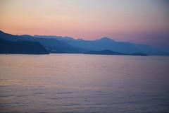 Soft Dawn (Herculeus.) Tags: 2016 adriaticsea aug croatia dalmationcoast dalmationmountains dubrovnik haze hills med16 mountains sea sunrise water outdoor sky