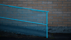 urban mesh (keith midson) Tags: ramp pedestrian path fence mesh hobart tsmania urban bricks wall sigma 85mm