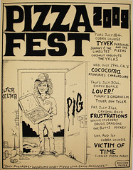 Pizza Fest Manson (Fugscreens Studios) Tags: chicago screenprint cobra lounge mickey lover emptybottle tyvek showposter frustrations krunchies thebutts benlyon catburglars coconutcoolouts cocoma victimoftime whitemystery theyolks crystalrock tylerjontyler personalandthepizzas timmysorganism fugscreens johnnythelimelites drugdragons pizzafest2009 pizzafestmanson