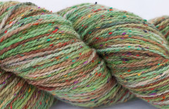 "*Cyber Monday Drawing*  ""Songs of Forest Creatures"" on Cestari Flecks Fine Merino/Rayon Wool - 4 oz"