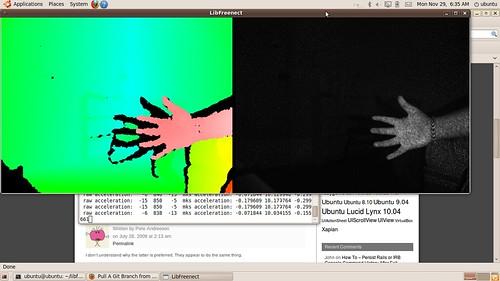 Kinect IR image