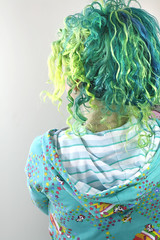 Green and Blue Hair (wisely-chosen) Tags: november selfportrait me bluehair 2010 tokidoki greenhair naturallycurlyhair manicpanicatomicturquoise manicpanicshockingblue manicpanicelectricbanana manicpanicelectriclizard tamronaf90mmf28dispam11macrolens adobephotoshopcs5extended