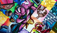 Zade (COLOR IMPOSIBLE CREW) Tags: chile graffiti valparaiso asie painters yono 2010 zade jkr fros inacap drems