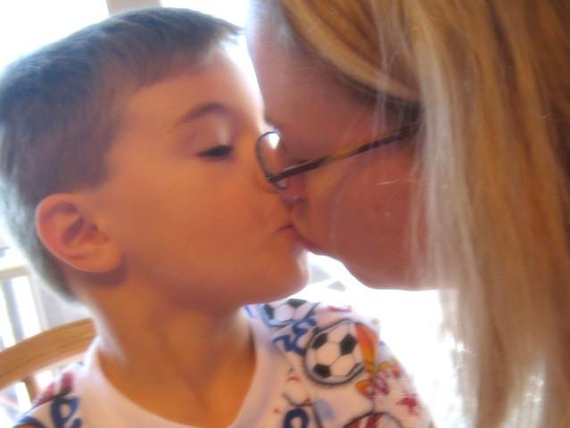 kissing the birthday boy