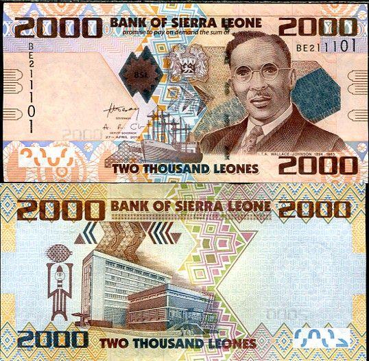 2000 Leones Sierra Leone 2010