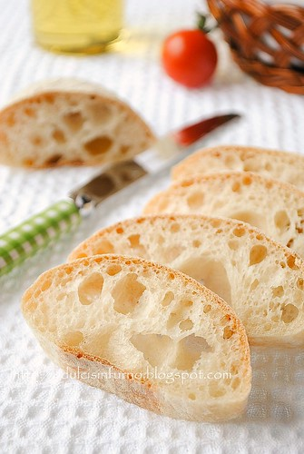 Ciabattine con Pasta Madre-Sourdough Ciabatta Rolls