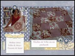 Minhas Artes -Trilho em Patchwork-Presente de Natal (AMO FUXICO) Tags: de patchwork em mesa caminho trilho