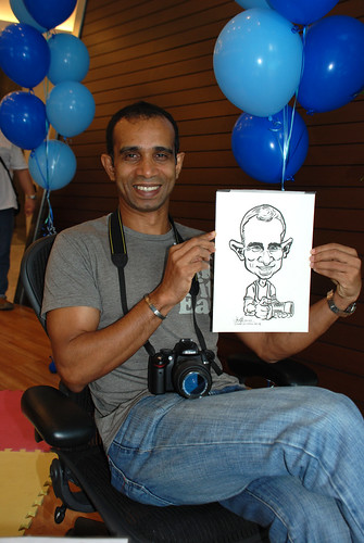 Caricature live sketching for Pan Pacific Hotels Group Family Day -2