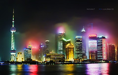 Shanghai | Hazy Lujiazui - PuDong, Shanghai (nickkpoon) Tags: world china urban color building tower colors skyline night skyscraper buildings river lights cityscape skyscrapers shanghai expo sony jin mao pearl traveling  oriental pudong financial  dsc dong pu  urbanskyline xi huangpu orientalpearltower chinashanghai lucisart puxi     h10 shanghaiexpo   shanghaichina   bettercitybetterlife flickrdiamond   2010shanghaiexpo dsch10 shanghaiworldexpo exposhanghai   worldexposhanghai