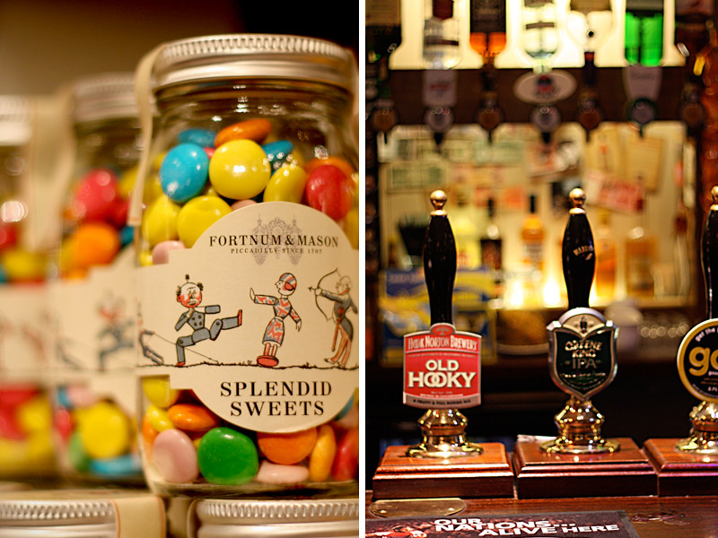 London - beer and candies