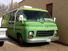 GMC Motorhome (dave_7) Tags: green classic texas amarillo rv motorhome gmc
