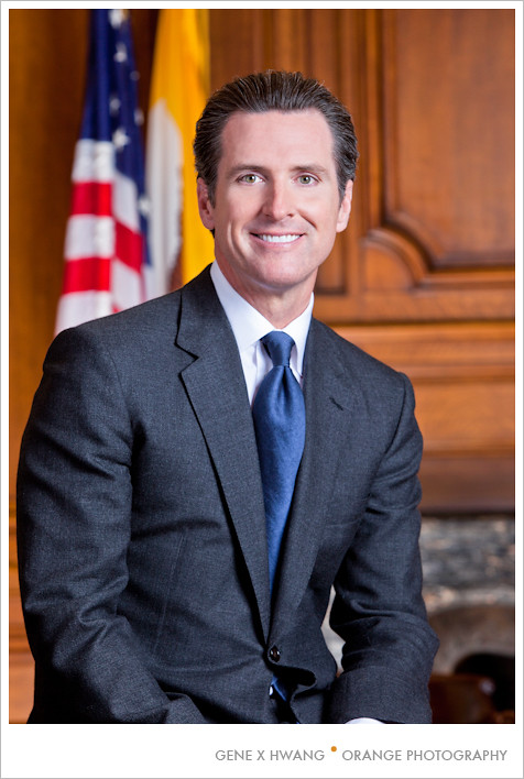 Mayor Gavin Newsom's Official Portrait