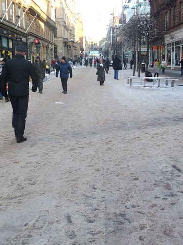 Buchanan St in Snow