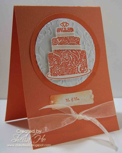 Wedding cake in orange