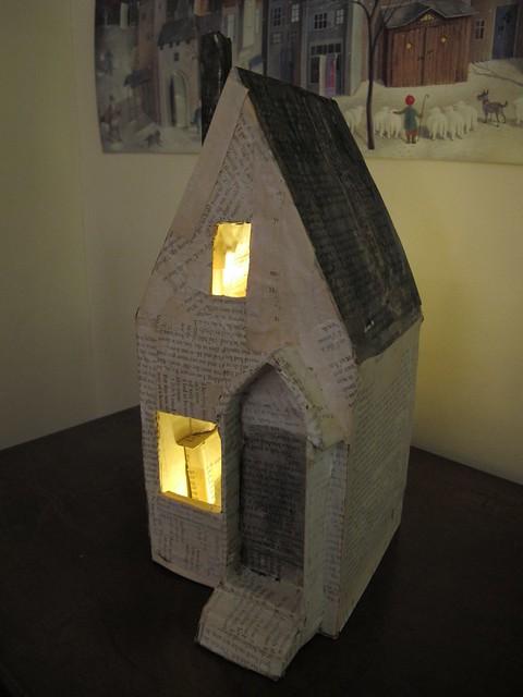 papier mache house