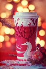 342/365: It's beginning to look a lot like Christmas! (pixelmama) Tags: christmas texture bulb reindeer december bokeh starbucks 2010 venti peppermintmocha project365 itsbeginningtolookalotlikechristmas warmfuzzy vinniepearce 3652010