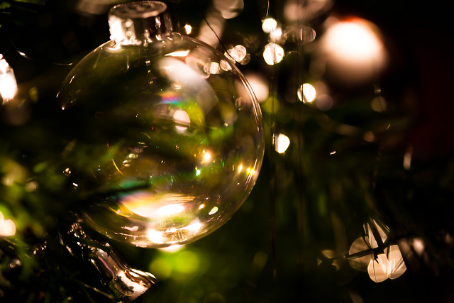 Christmas Bubble [EOS 5DMK2 | EF 100mm Macro | 1/15 s | f/2.8 | ISO800]