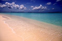 Ocean, Sand & Sky. Velassaru Resort, Maldives (Jenny Rainbow (jenny-rainbow.pixels.com)) Tags: ocean blue sky sun white holiday beach water clouds nikon wideangle resort clear exotic destination transparent maldives vacations d300 sigma1020 velassaru