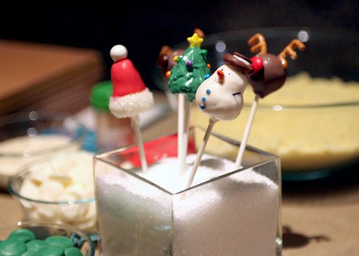 varios chupachups navideños de Bakerella