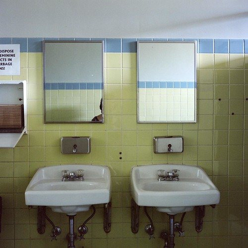 Upstairs Girls' Bathroom.
