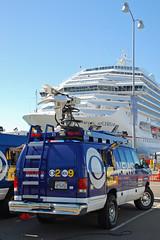 TV News Van (So Cal Metro) Tags: new carnival ford television losangeles tv media ship sandiego embarcadero cruiseship van cbs splendor econoline kcal localnews tvnews eseries kcbs e350