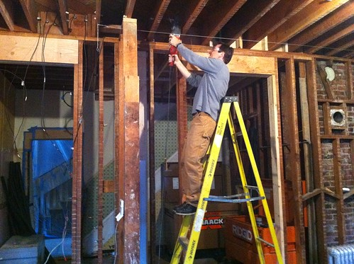 Drilling through joists