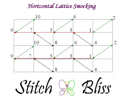 lattice smocking grid